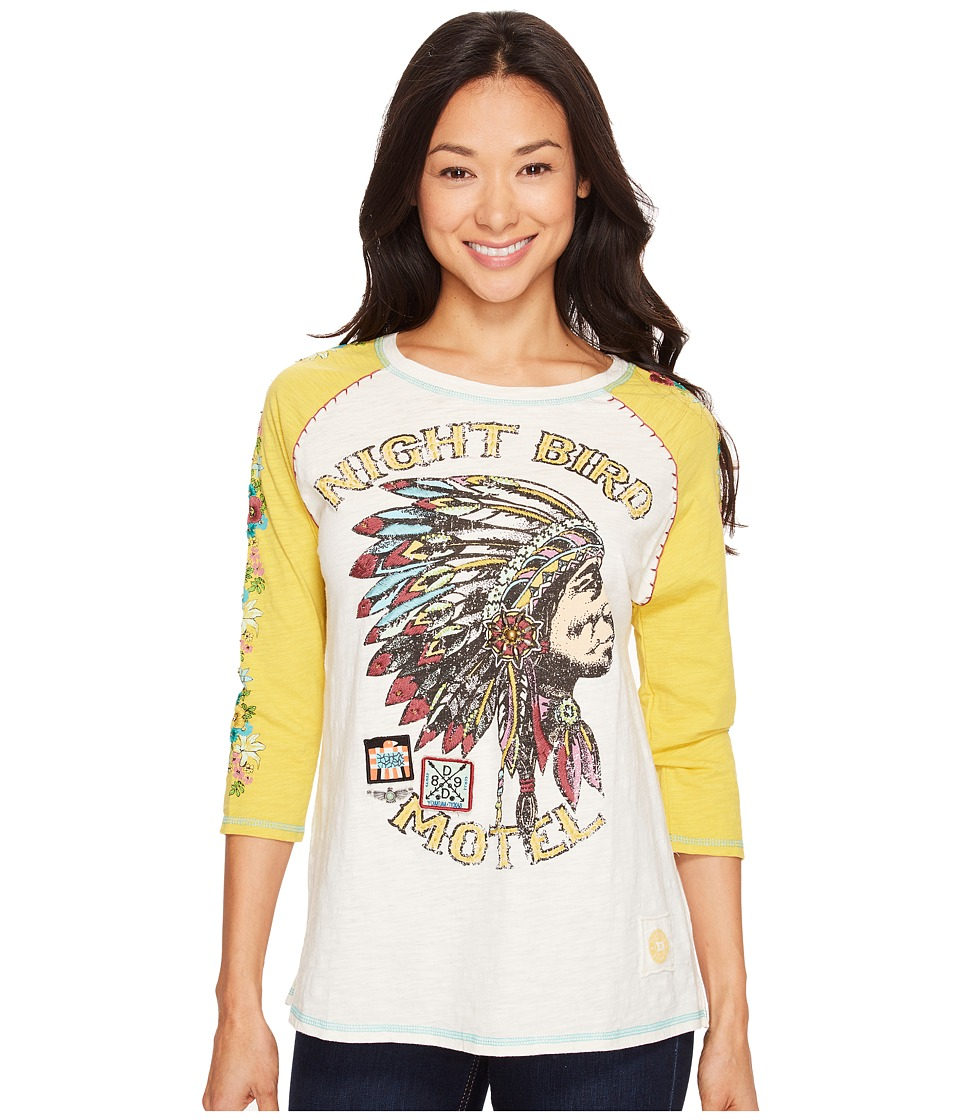 Double D Ranchwear - Night Bird Motel Tee (Yellowbelly) Women's T Shirt