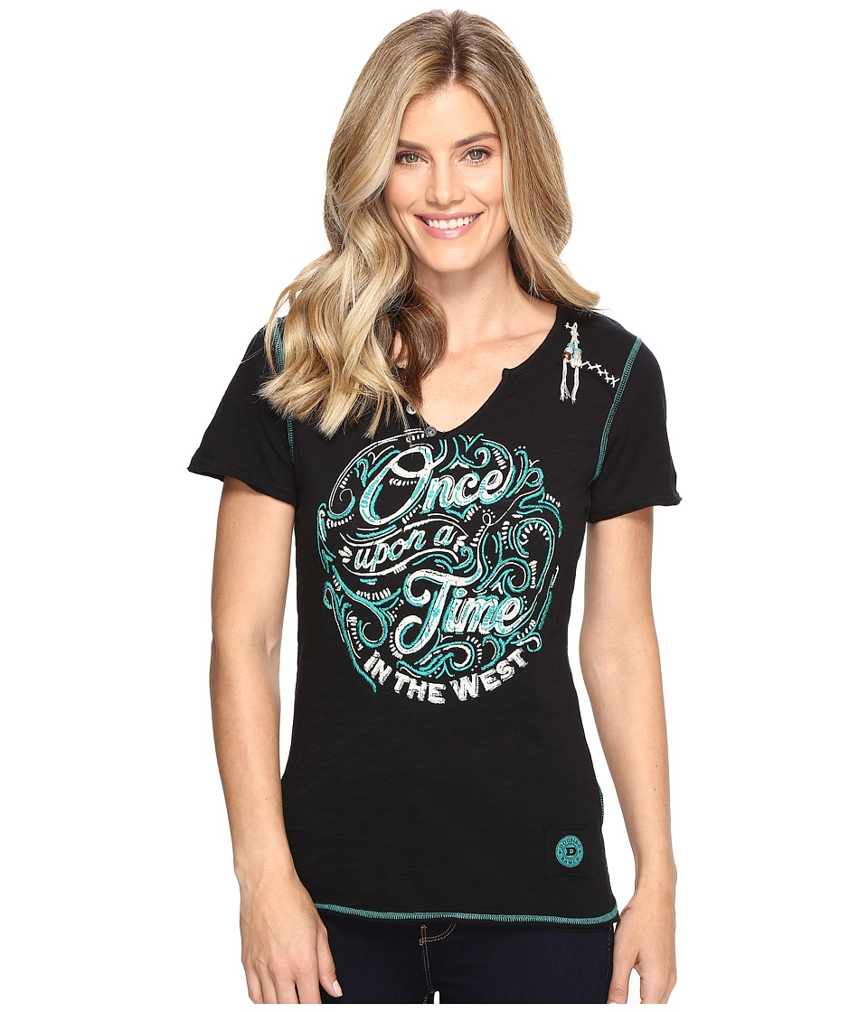 Double D Ranchwear - Once Upon A Time in the West Tee (Black) Women's T Shirt