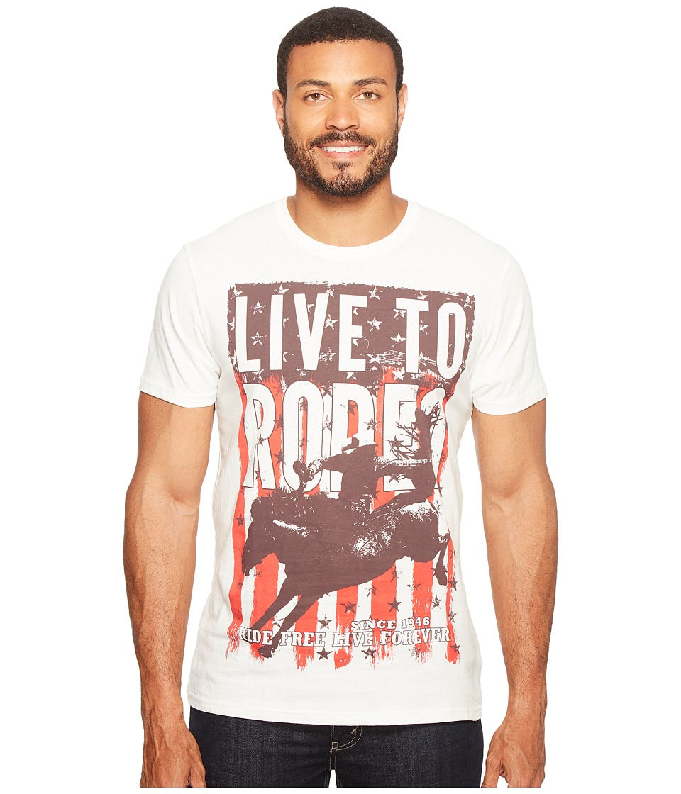 Rock and Roll Cowboy - Short Sleeve T-Shirt P9-1666 (White) Men's T Shirt