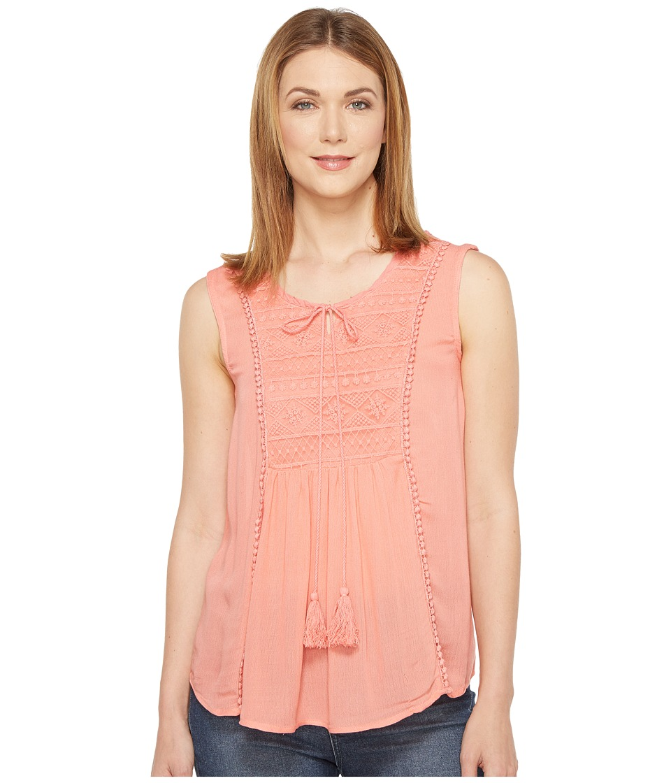 Rock and Roll Cowgirl - Sleeveless Top B5-1303 (Coral) Women's Sleeveless