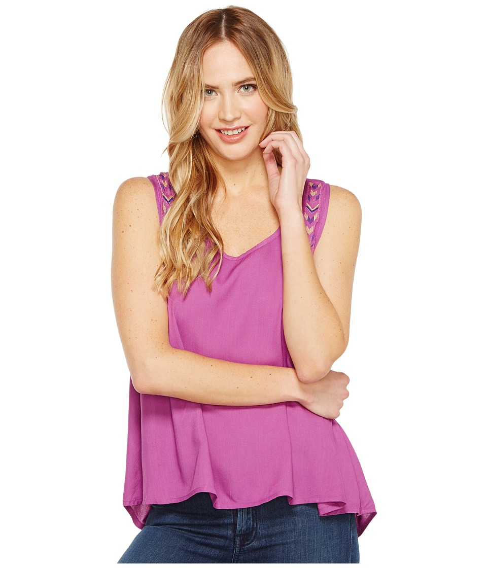 Rock and Roll Cowgirl - Sleeveless Tank Top B5-1287 (Purple) Women's Sleeveless