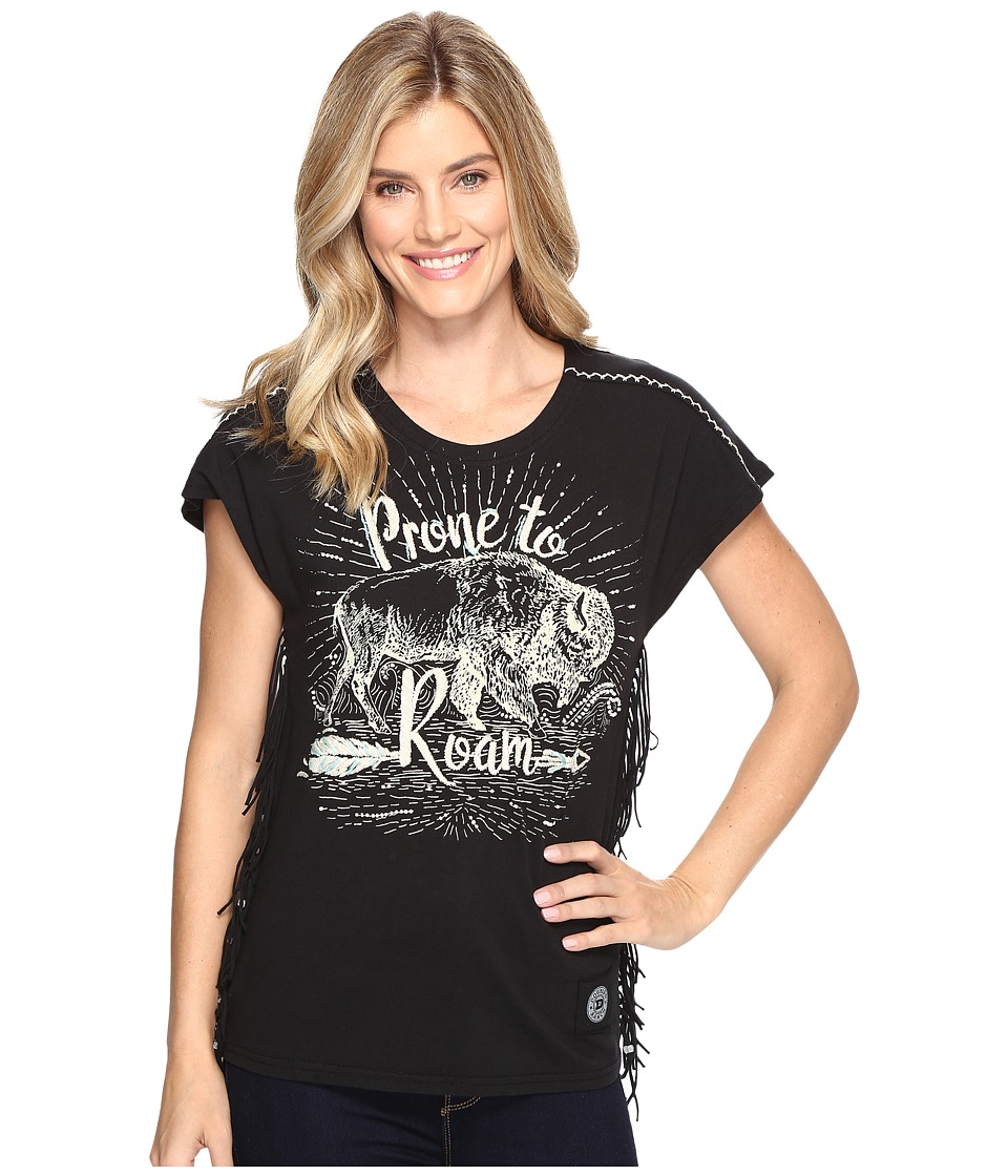 Double D Ranchwear - Prone To Roam Top (Black) Women's Clothing
