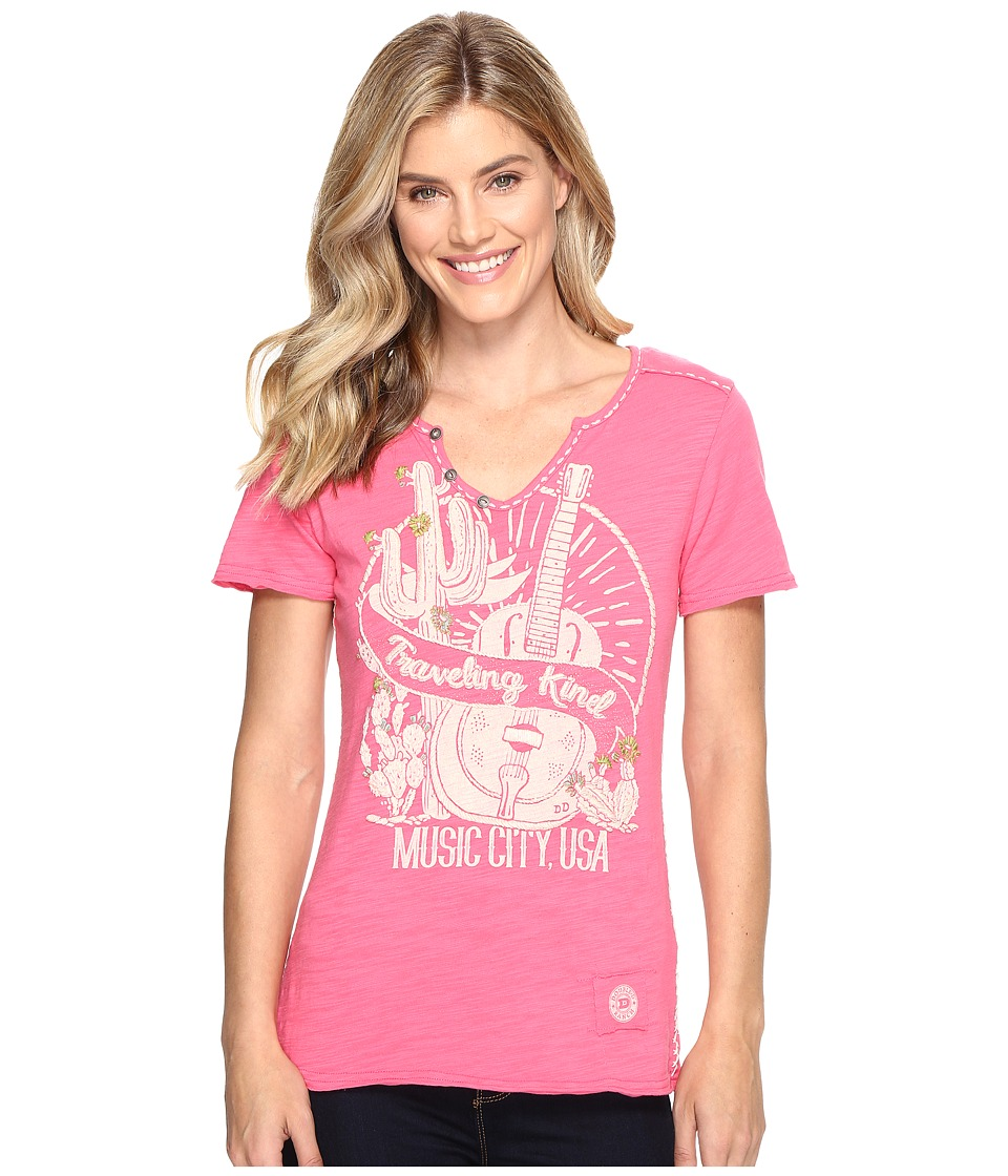 Double D Ranchwear - Traveling Kind Tee (Rattlesnake Rose) Women's T Shirt