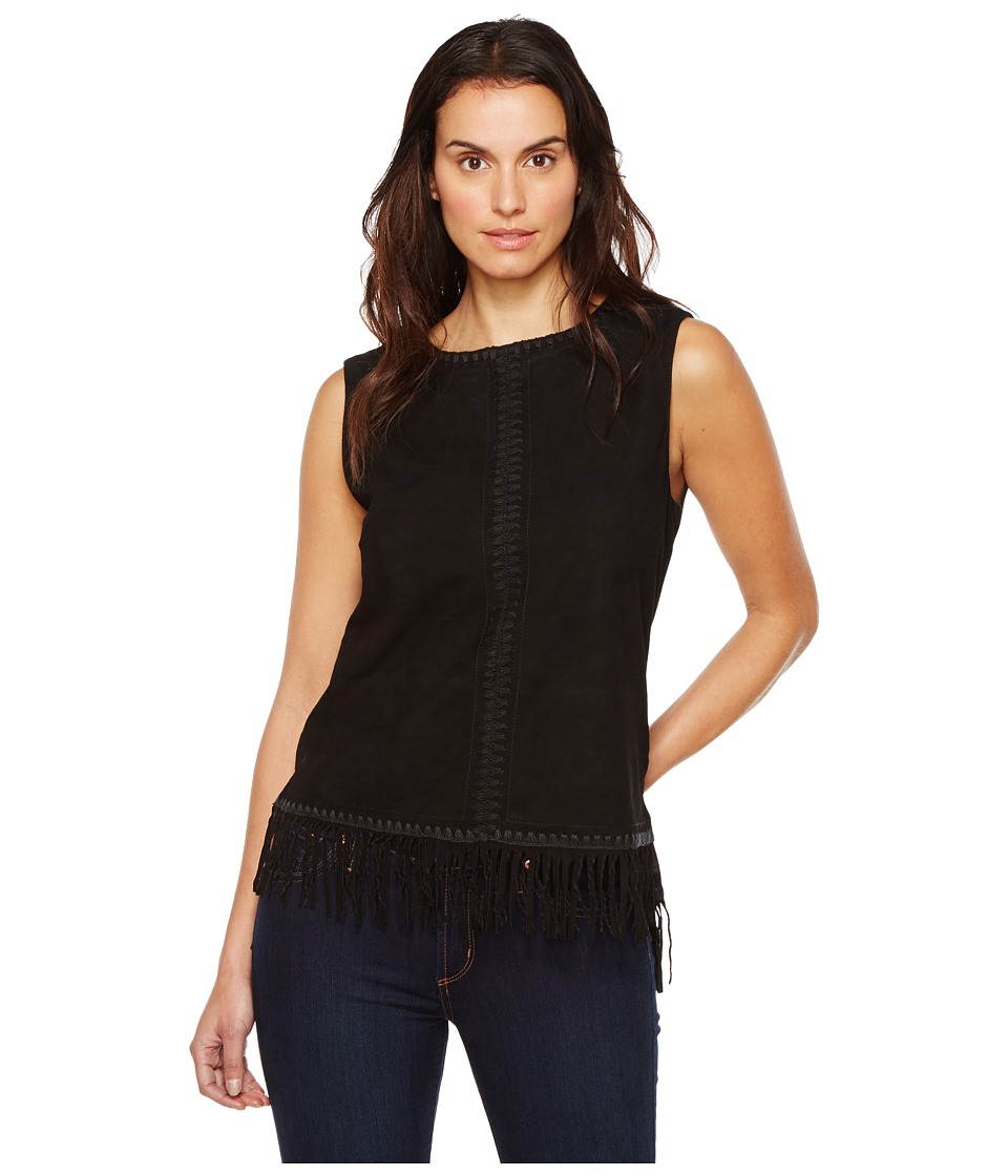 Double D Ranchwear - Paint Your Wagon Tank Top (Black) Women's Sleeveless