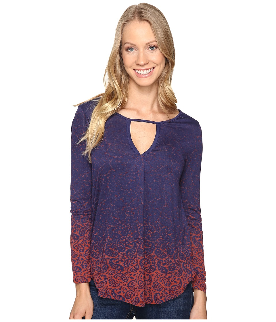 Lucky Brand - Printed Top (Navy Multi) Women's Clothing
