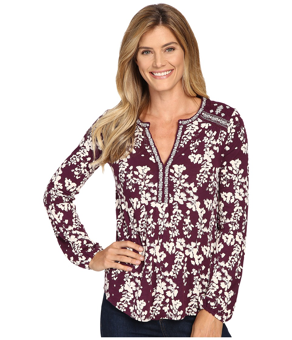 Lucky Brand - Mixed Peasant Top (Winter Bloom) Women's Clothing