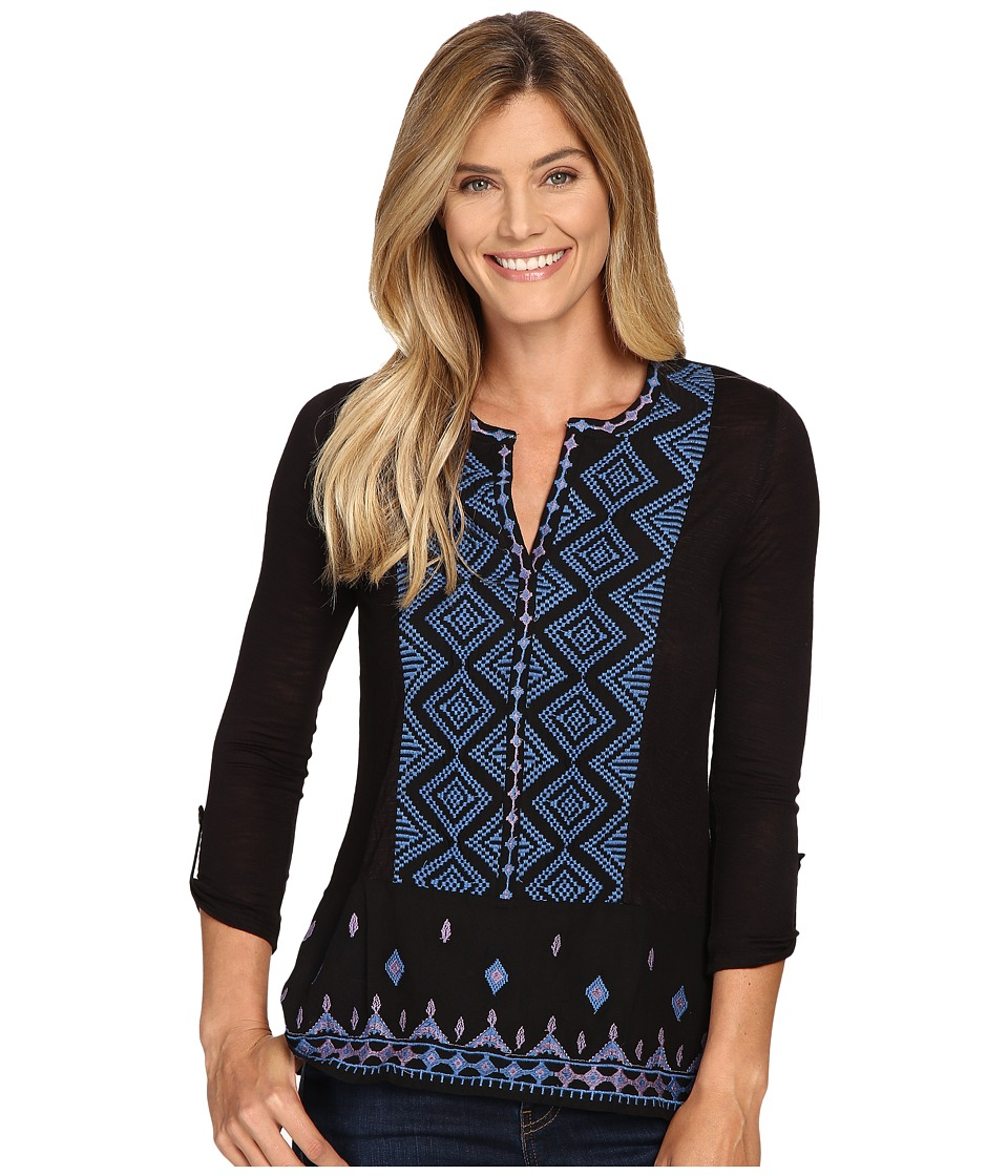 Lucky Brand - Embroidered Top (Black Multi) Women's Clothing