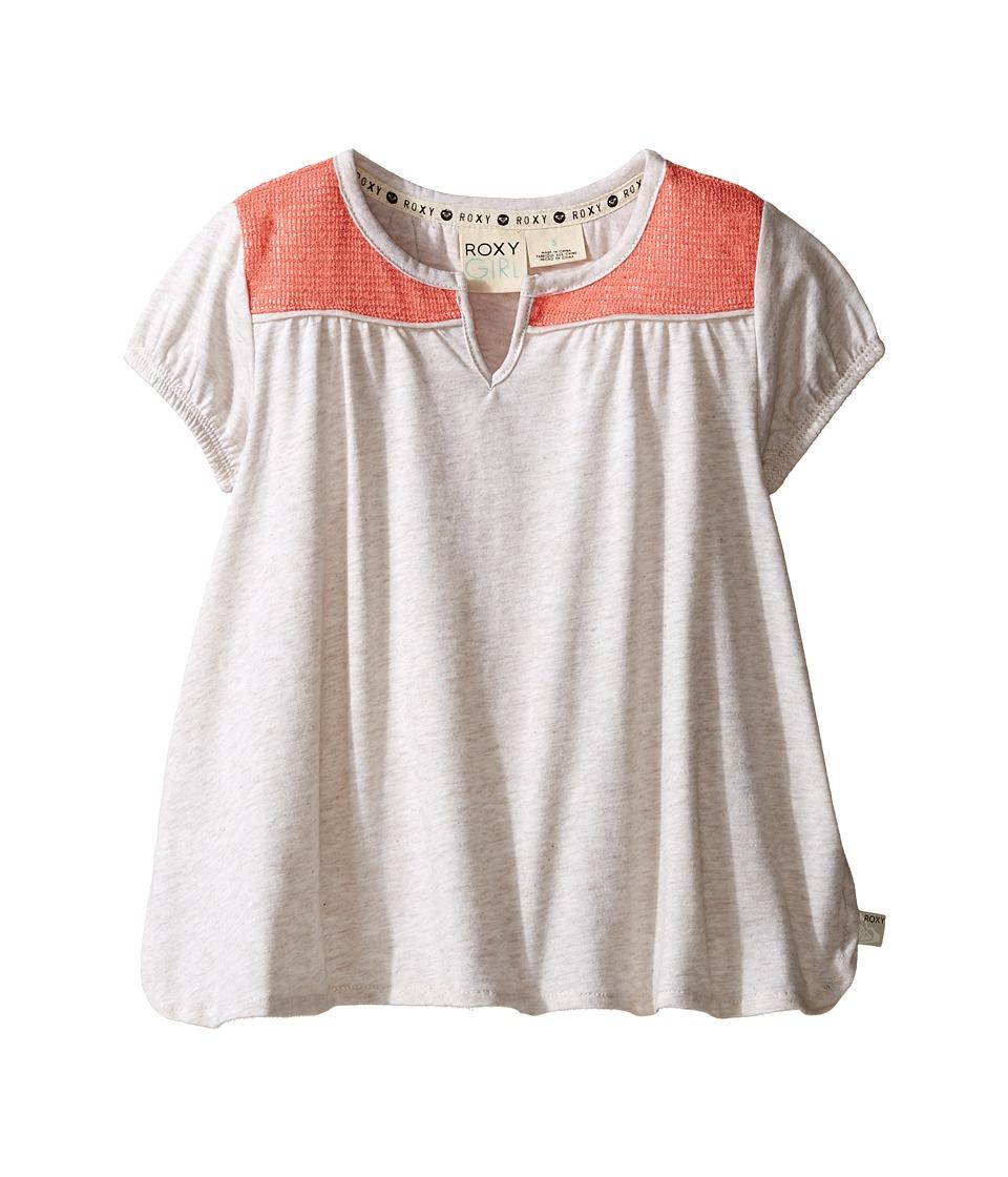 Roxy Kids - Short Sleeve Explorer Top (Toddler/Little Kids) (Metro Heather) Girl's T Shirt