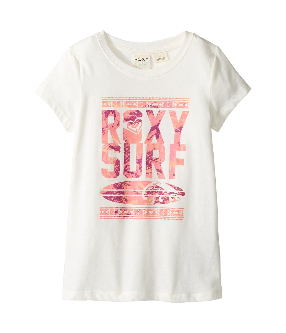 Roxy Kids - Short Sleeve Tee w/ Roxy Logo (Toddler/Little Kids) (Sea Salt) Girl's T Shirt