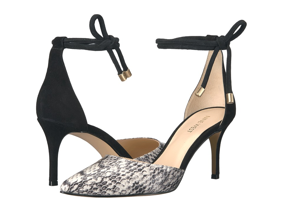 Nine West - Millenio (Off-White/Black Snake) Women's Shoes
