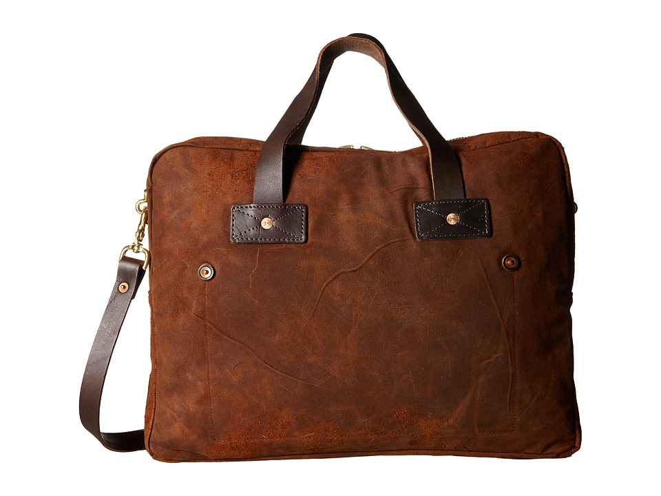 Billy Reid - Worn Leather Messenger Bag (Tobacco) Messenger Bags