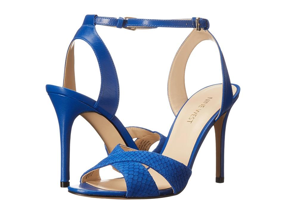 Nine West - Mooch (Blue Nubuck) Women's Shoes
