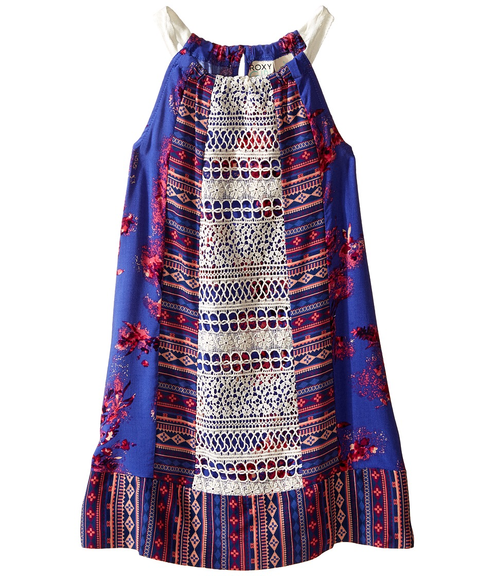 Roxy Kids - Printed Halter Dress (Toddler/Little Kids) (Violet Storm) Girl's Dress