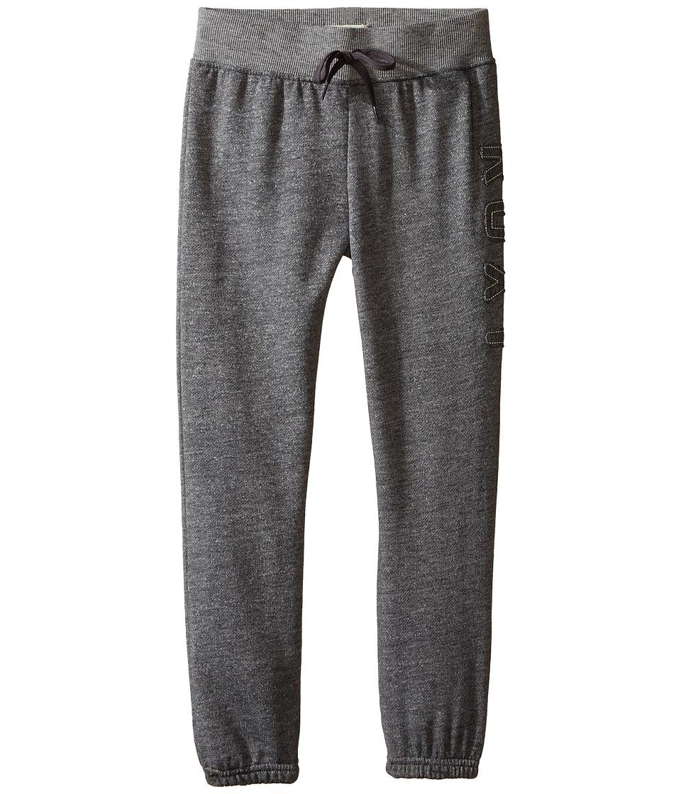 Roxy Kids - Fleece Pants w/ Roxy Logo (Toddler/Little Kids) (Heritage Heather) Girl's Casual Pants
