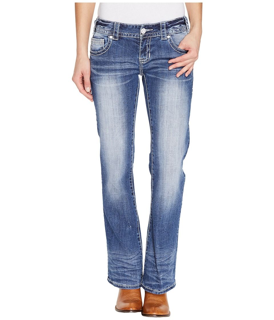 Rock and Roll Cowgirl - Low Rise Bootcut in Medium Vintage W0-1378 (Medium Vintage) Women's Jeans