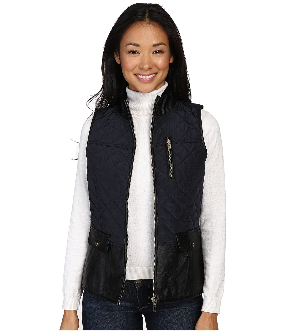 FDJ French Dressing Jeans - Quilted Jacketing Vest (Navy/Black) Women's Vest