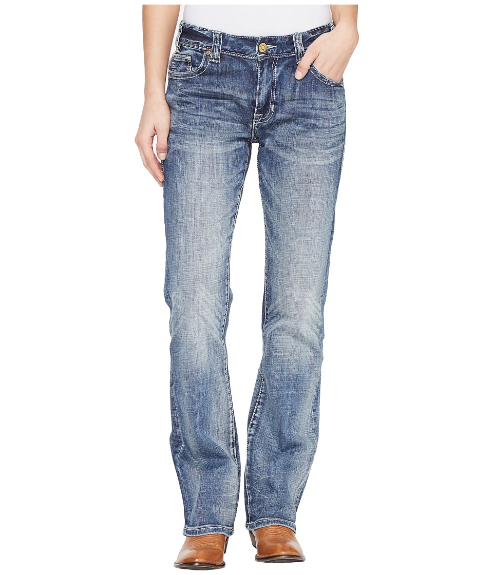Rock and Roll Cowgirl - Boyfriend Fit in Medium Wash W2-1397 (Medium Wash) Women's Jeans