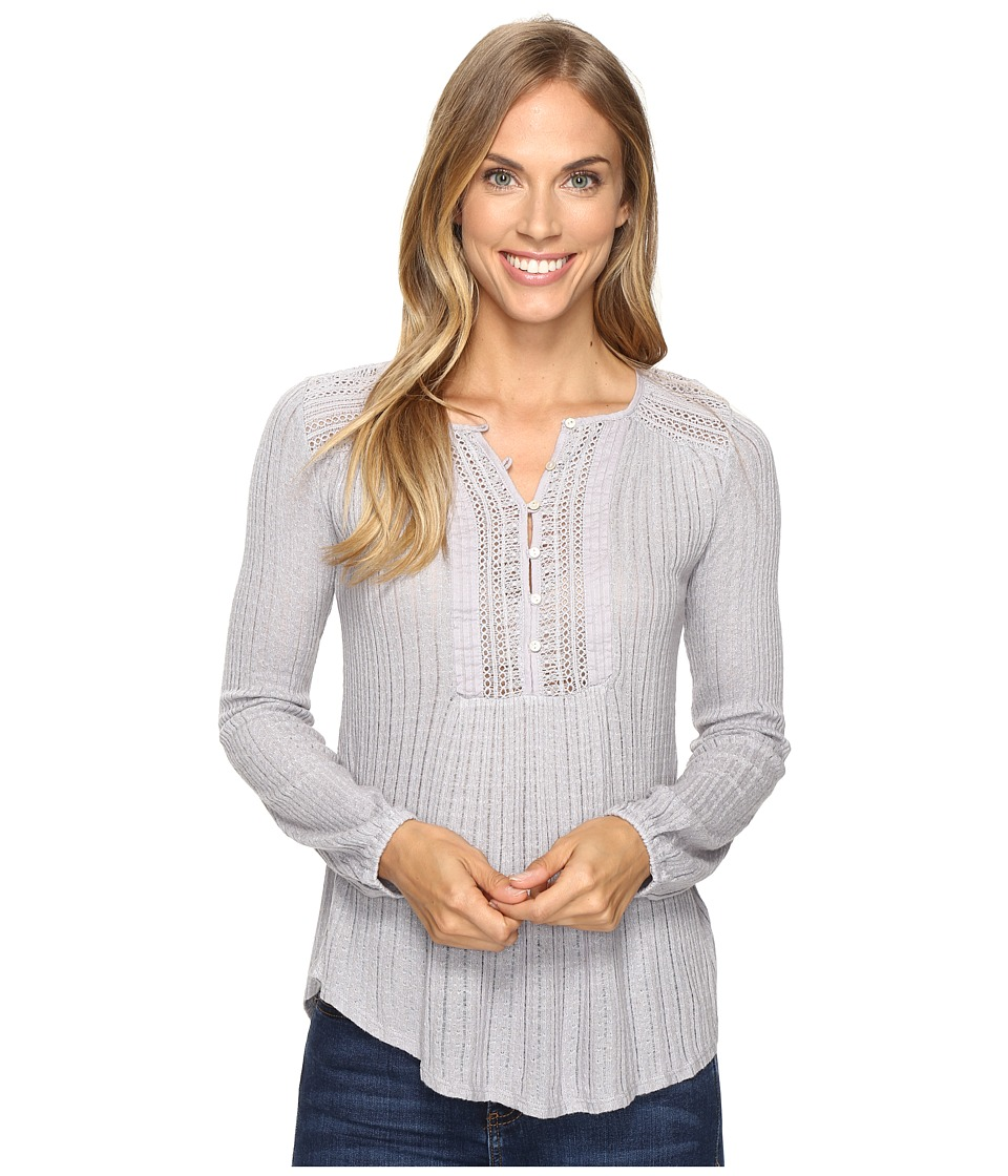 Lucky Brand - Drop Needle Knit Top (Dapple Gray) Women's Clothing