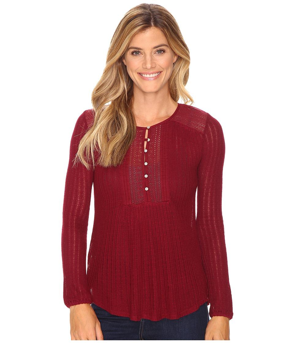 Lucky Brand - Drop Needle Knit Top (Wild Currant) Women's Clothing