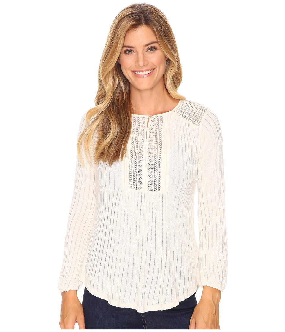 Lucky Brand - Drop Needle Knit Top (Oatmeal) Women's Clothing