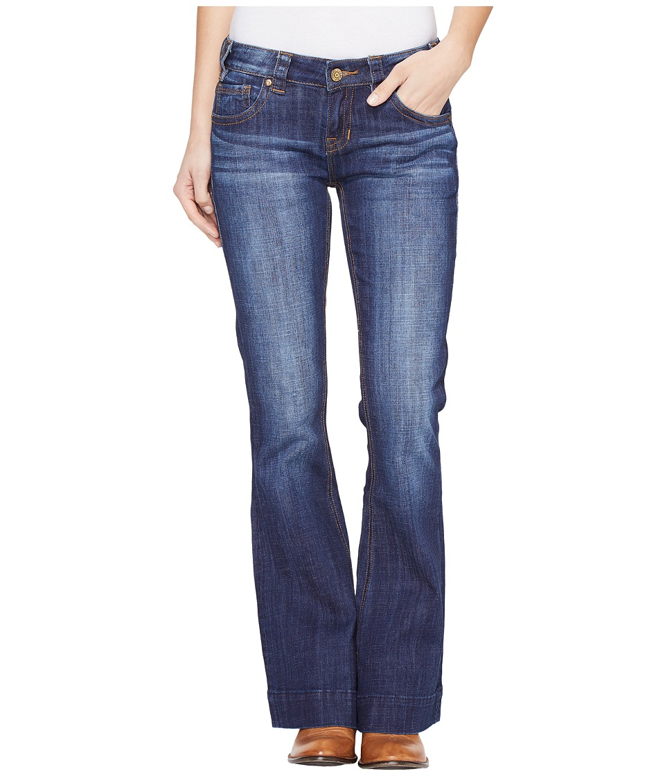 Rock and Roll Cowgirl Trousers Low Rise in Dark Wash W8-1401 (Dark Wash) Women