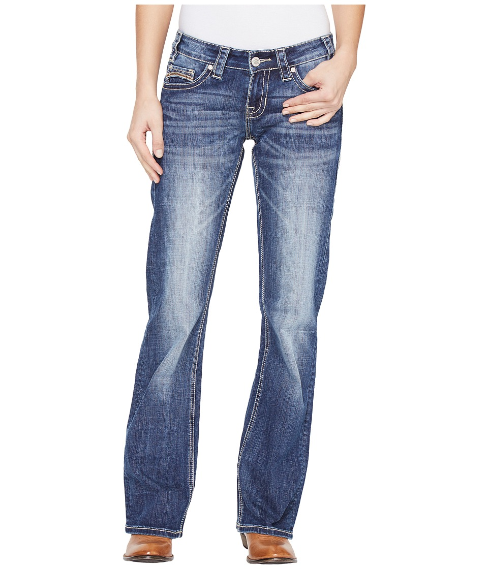 Rock and Roll Cowgirl - Riding Bootcut in Medium Wash W7-1393 (Medium Wash) Women's Jeans