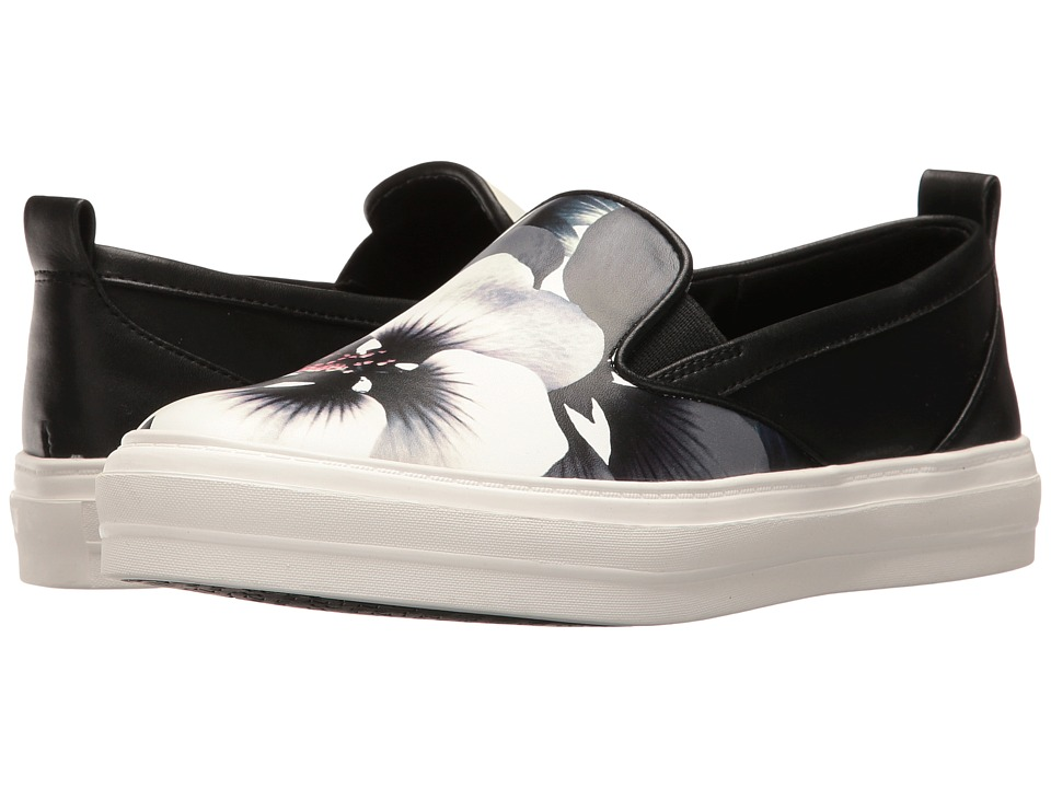 Nine West - Olsen 3 (Black/White Multi Pansy Print) Women's Shoes