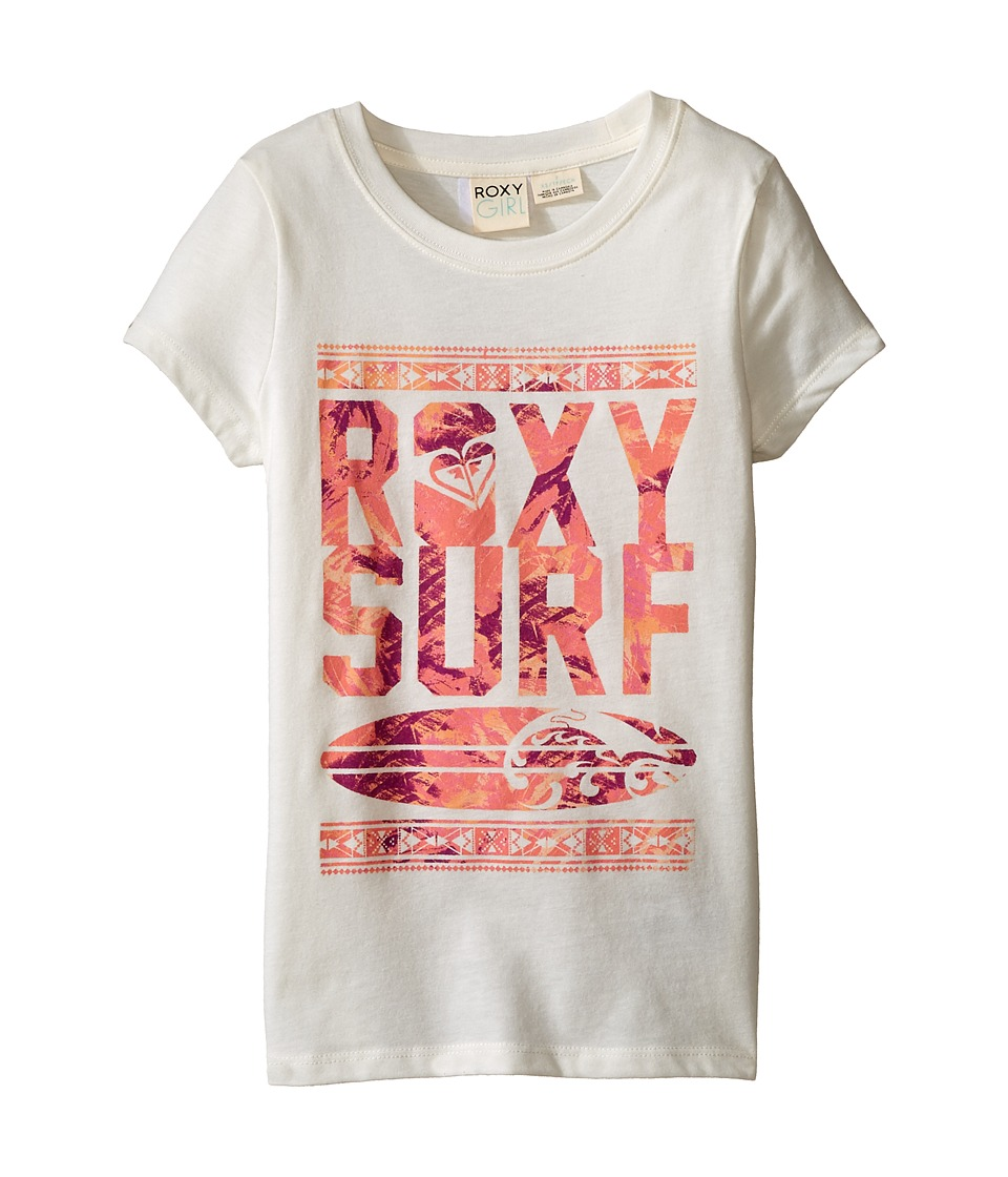 Roxy Kids - Short Sleeve Tee with Roxy Logo (Little Kids/Big Kids) (Sea Salt) Girl's T Shirt