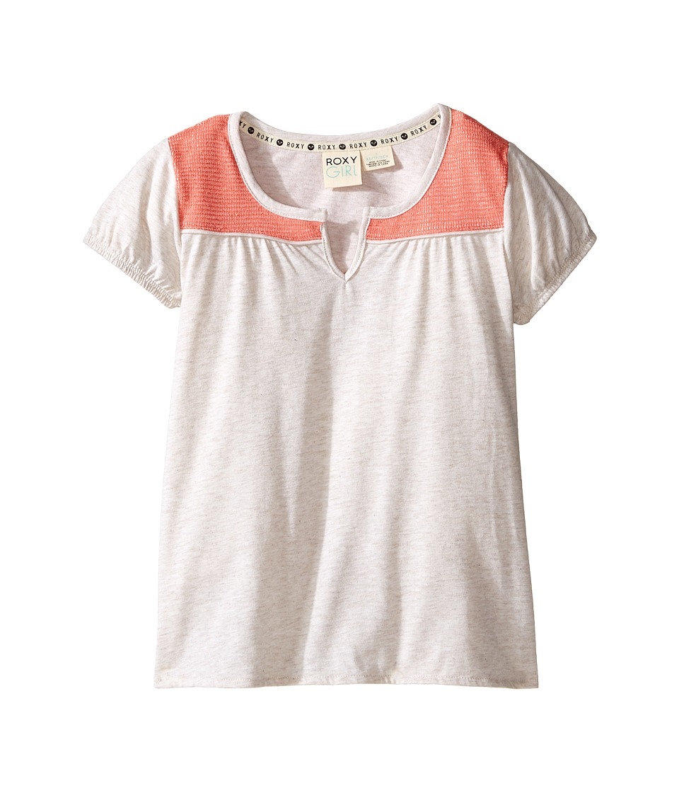 Roxy Kids - Short Sleeve Explorer Top (Little kids/Big Kids) (Metro Heather) Girl's T Shirt