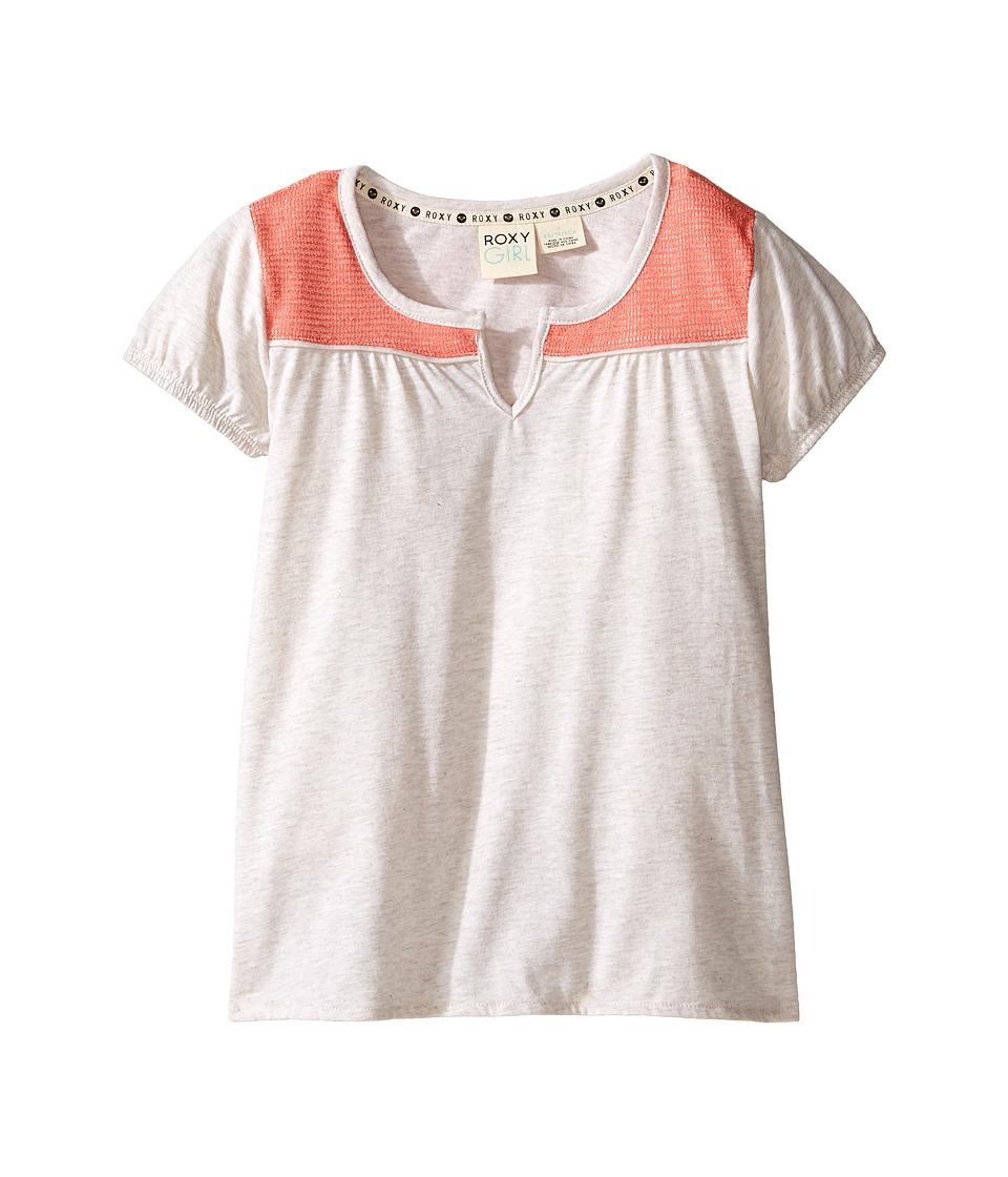 Roxy Kids - Short Sleeve Explorer Top (Little kids/Big Kids) (Metro Heather) Girl's T Shirt