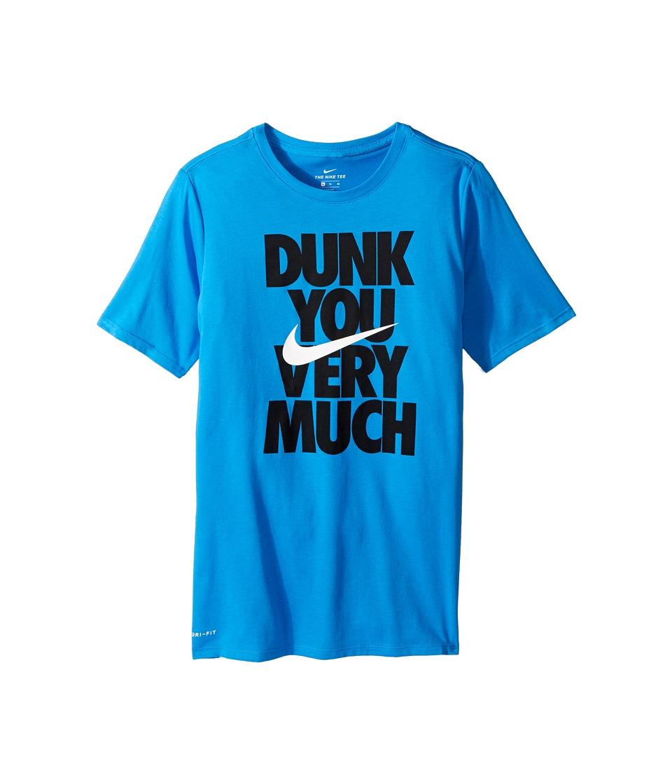 Nike Kids - Dry Dunk You Short Sleeve Tee (Little Kids/Big Kids) (Light Photo Blue/White) Boy's T Shirt