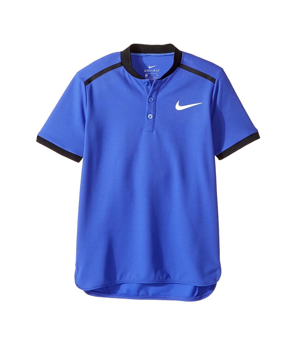 Nike Kids - Court Advantage Tennis Polo (Little Kids/Big Kids) (Paramount Blue) Boy's Short Sleeve Pullover