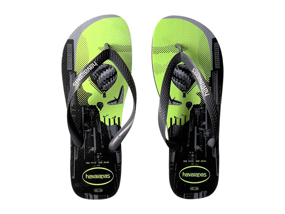 Havaianas - 4 Nite Flip Flops (Black/Grey/Black) Men's Sandals
