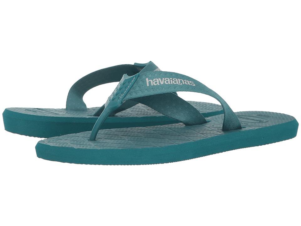 Havaianas - Level Flip Flops (Petroleum) Men's Sandals
