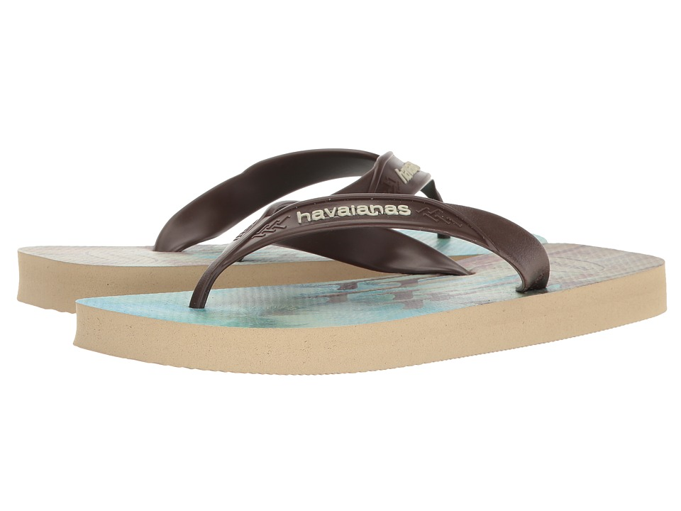 Havaianas - Surf Flip Flops (Sand Grey/Dark Brown) Men's Sandals