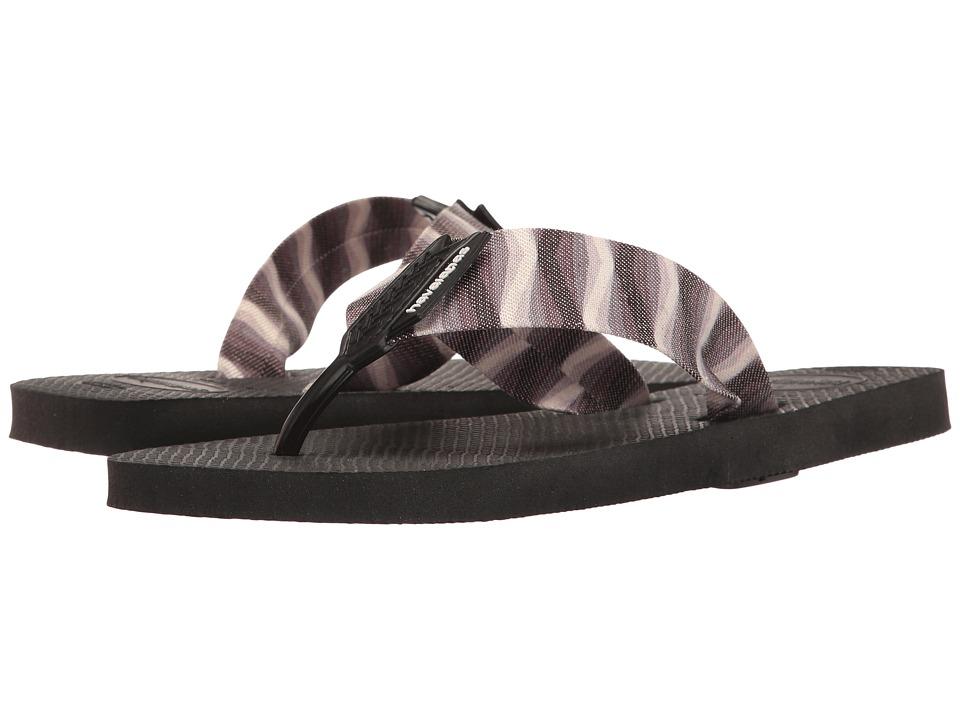 Havaianas - Urban Series Flip Flops (Black/Black) Men's Sandals