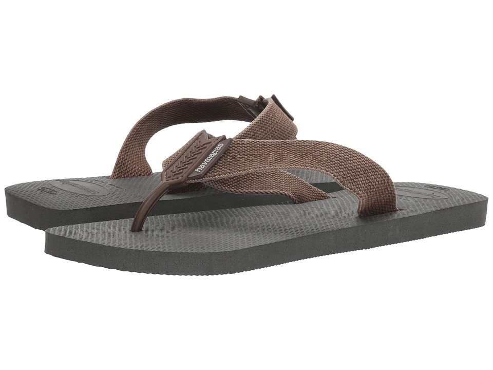 Havaianas - Urban Basic Flip Flops (Grey/Dark Brown) Men's Sandals
