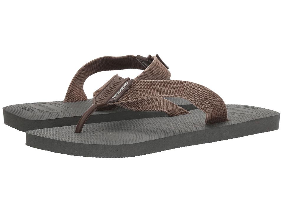 Havaianas - Urban Basic Flip Flops (Grey/Dark Brown) Men's Sandals