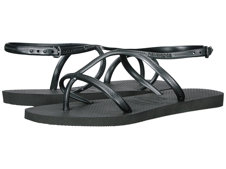 Havaianas - Allure Flip-Flops (Black) Women's Sandals