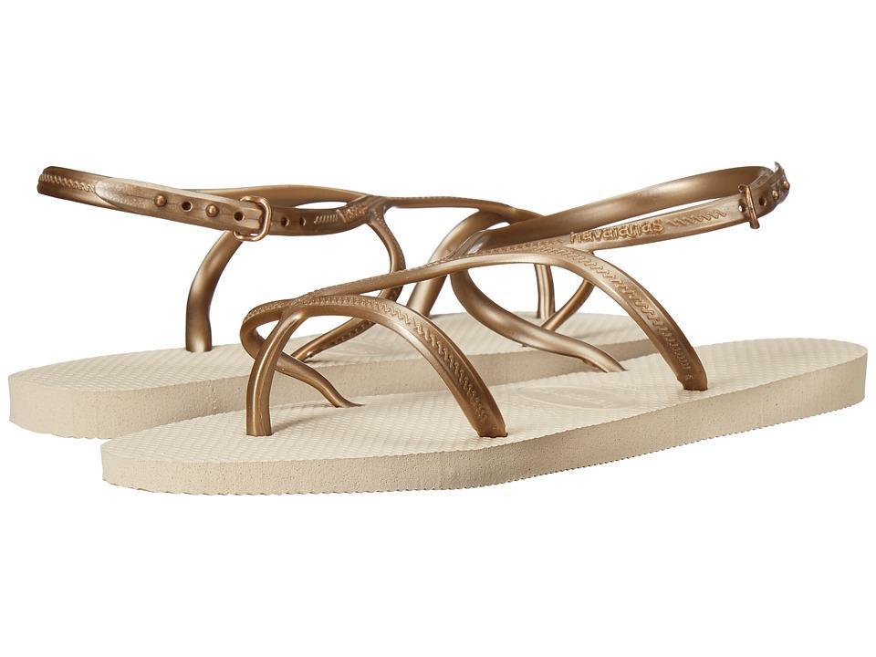 Havaianas - Allure Flip-Flops (Beige) Women's Sandals