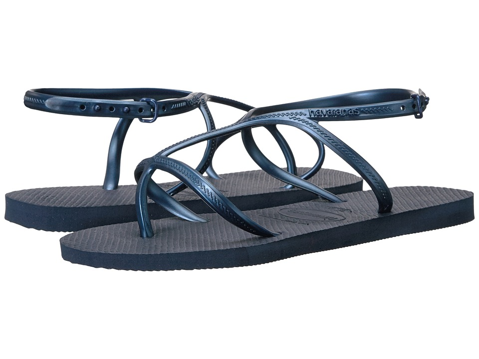 Havaianas - Allure Flip-Flops (Navy Blue) Women's Sandals