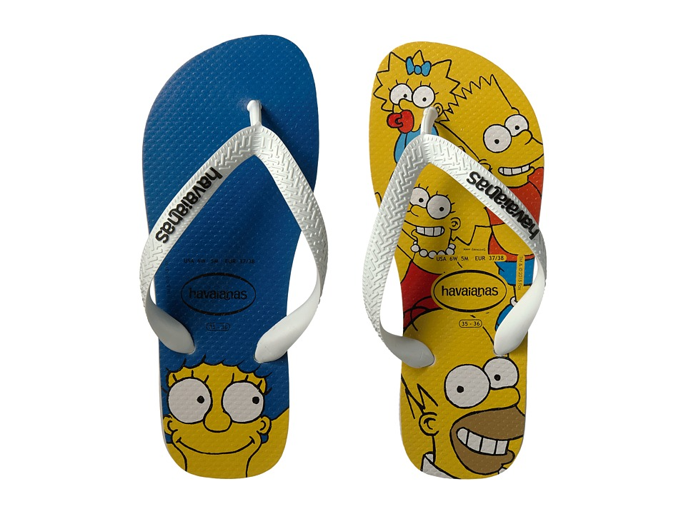 Havaianas - Simpsons Flip-Flops (White) Women's Sandals