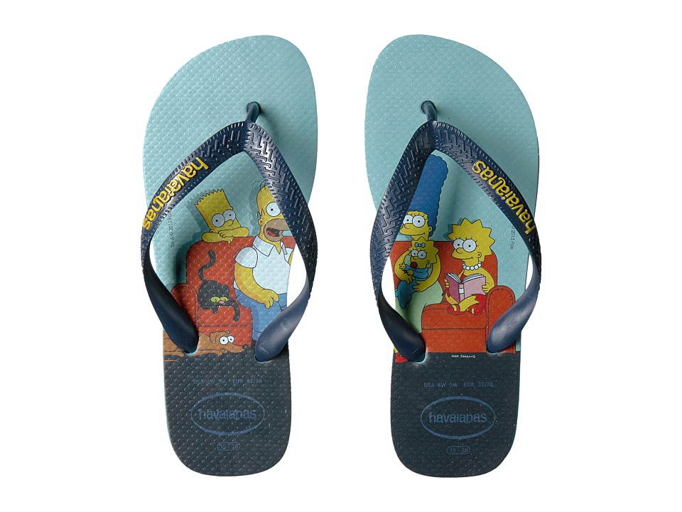 Havaianas - Simpsons Flip-Flops (Blue) Women's Sandals