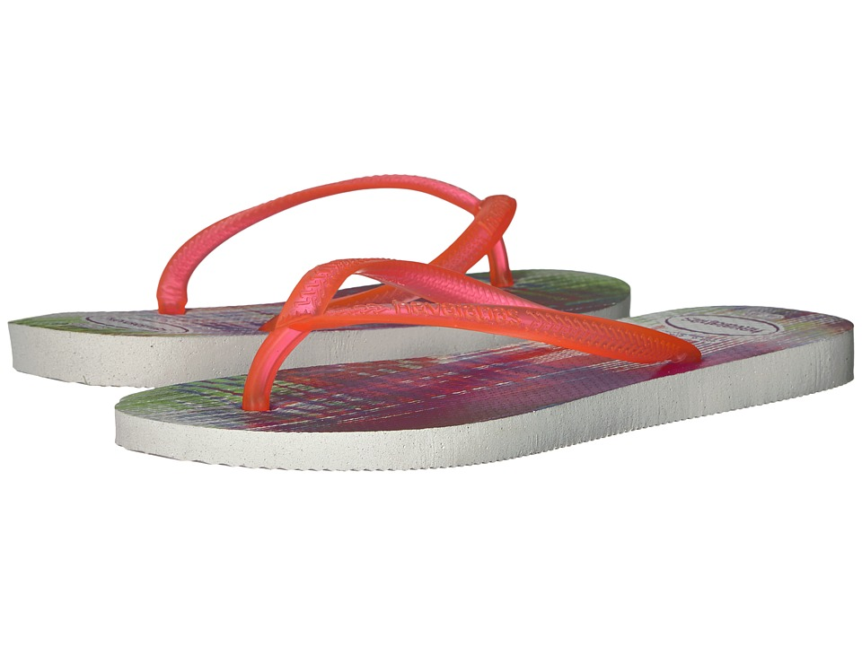 Havaianas Slim Beats Flip-Flops (White) Women