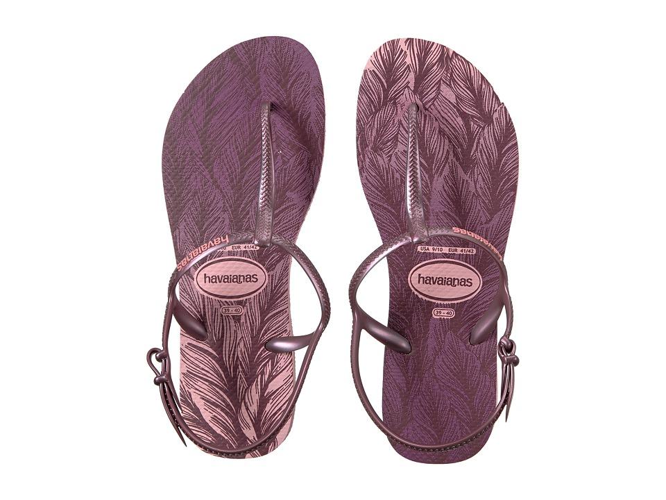 Havaianas - Freedom SL Print Flip-Flops (Pearl Pink) Women's Sandals