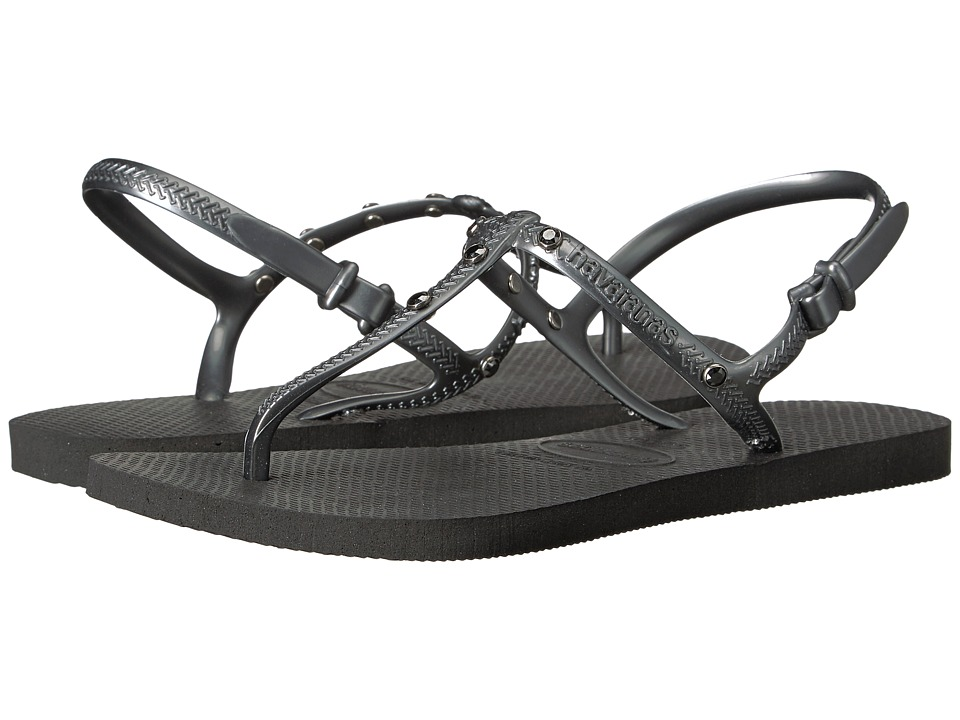 Havaianas Freedom Crystal SW Flip-Flops (Black) Women