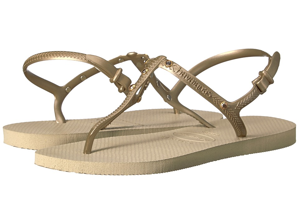 Havaianas - Freedom Crystal SW Flip-Flops (Sand Grey) Women's Sandals