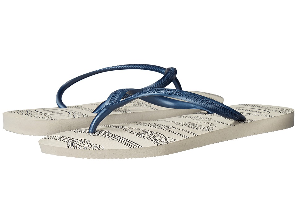 Havaianas Slim Nautical Flip-Flops (White) Women