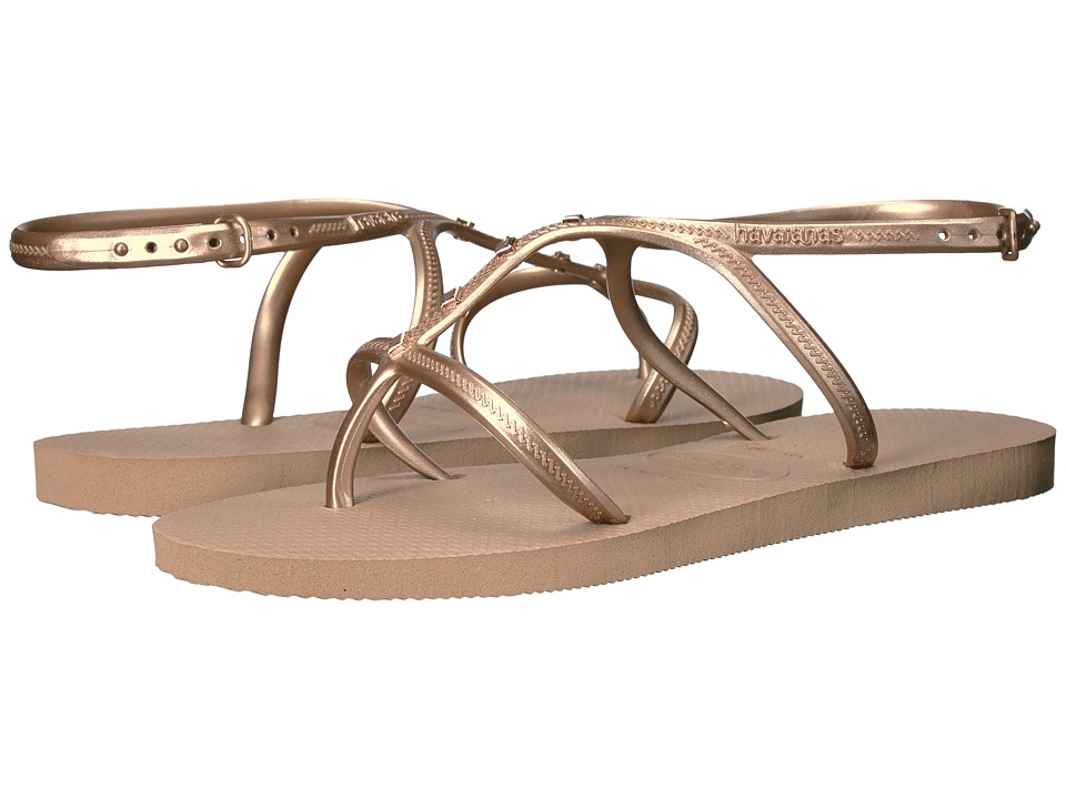 Havaianas Allure Maxi Flip-Flops (Rose Gold) Women