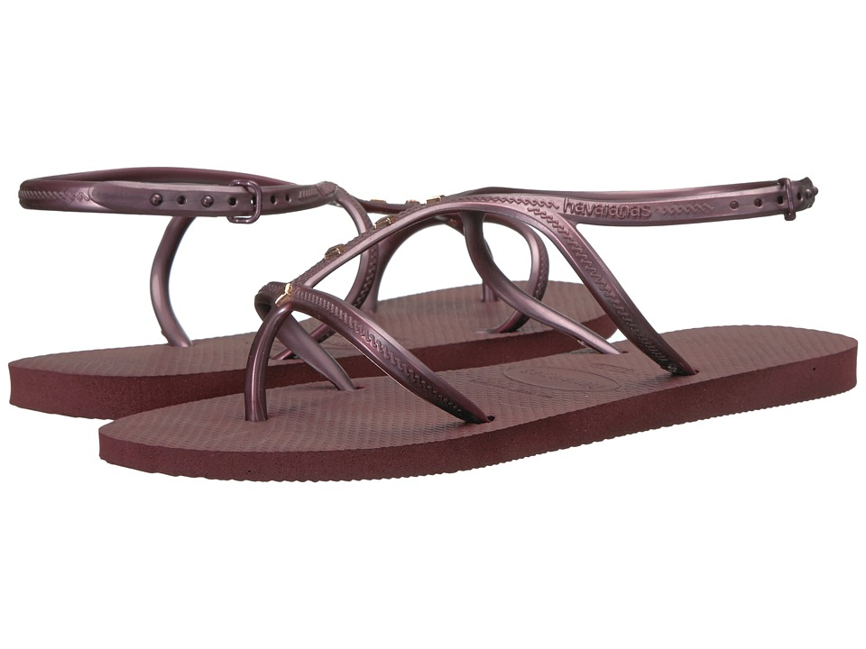 Havaianas Allure Maxi Flip-Flops (Grape Wine) Women